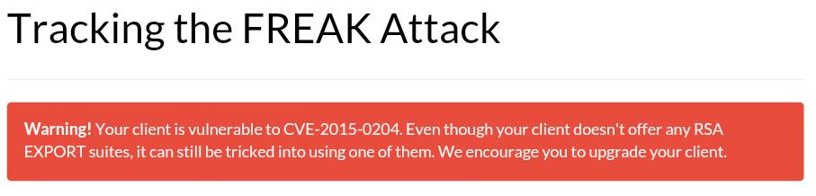Twoja przeglądarka jest podatna na atak FREAK