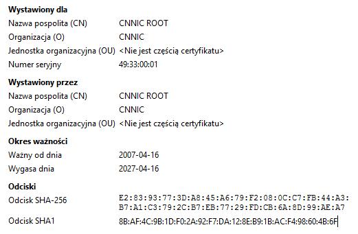 CNNIC ROOT