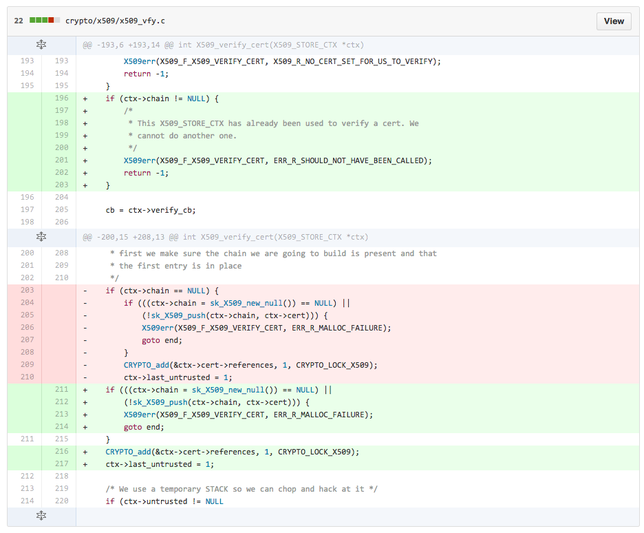 Pierwsza z poprawek wprowadzona w kodzie