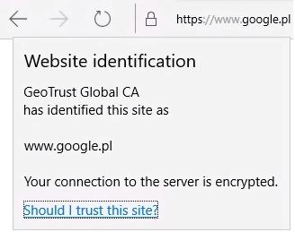 Brak opcji wyświetlenia certyfikatu SSL w Edge (EN)