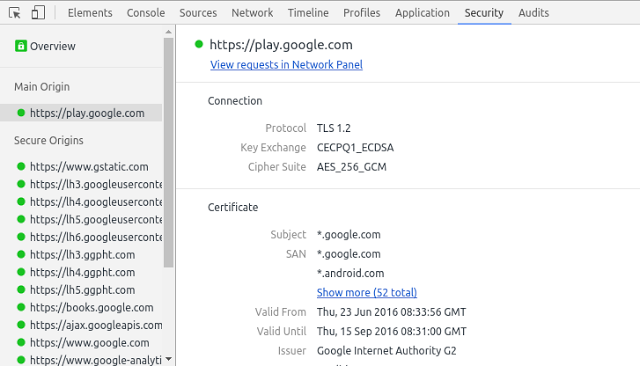 "Algorytm CECPQ1 ""w akcji"" (źródło: security.googleblog.com)."